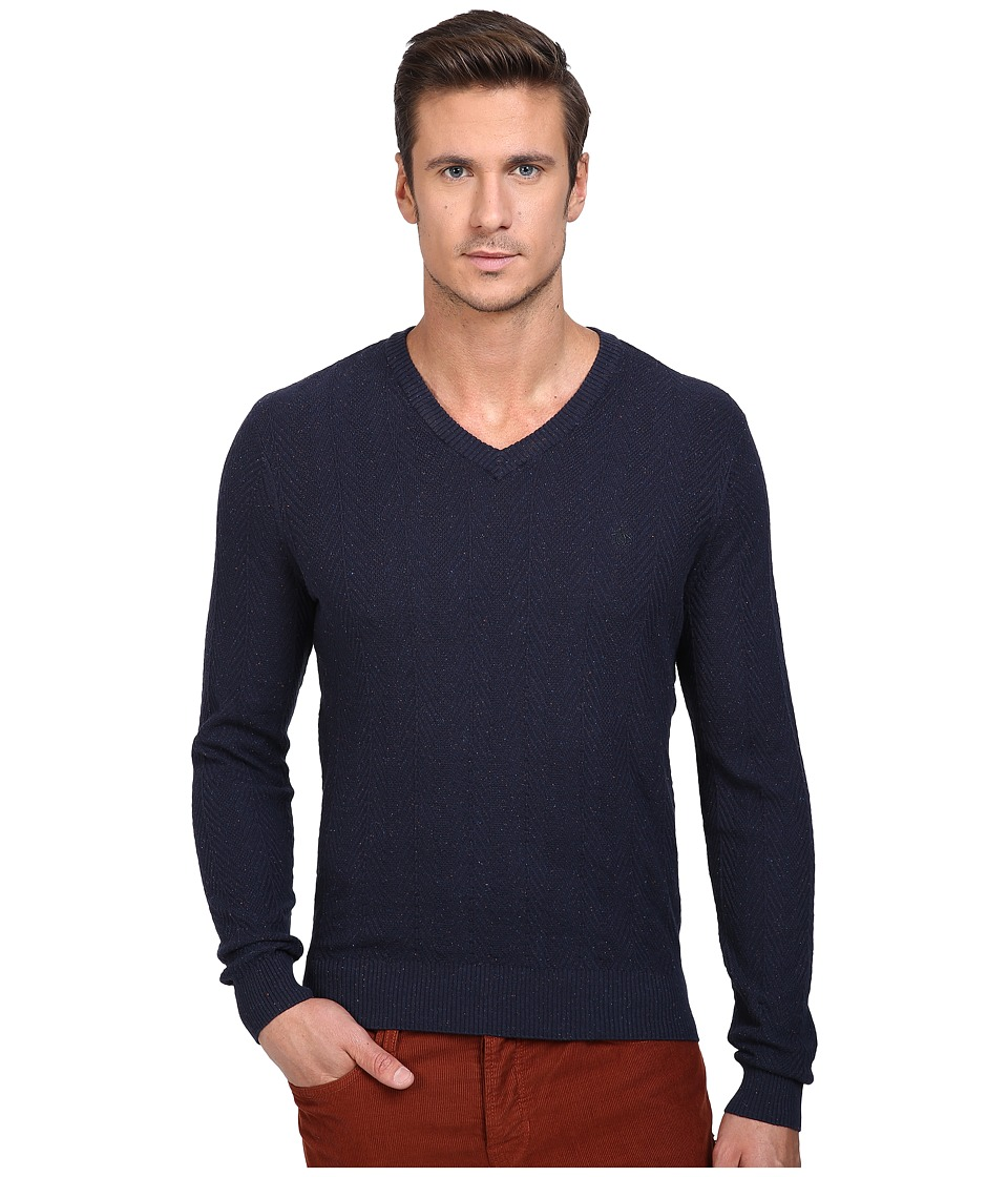 Original Penguin Donegal Herringbone V-Neck (Dark Sapphire) Men