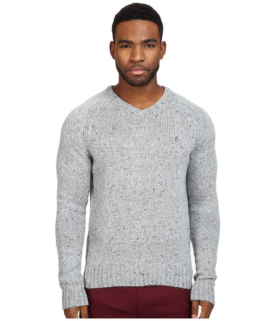 Original Penguin Saddle Raglan Donegal V-Neck Sweater (Griffin) Men