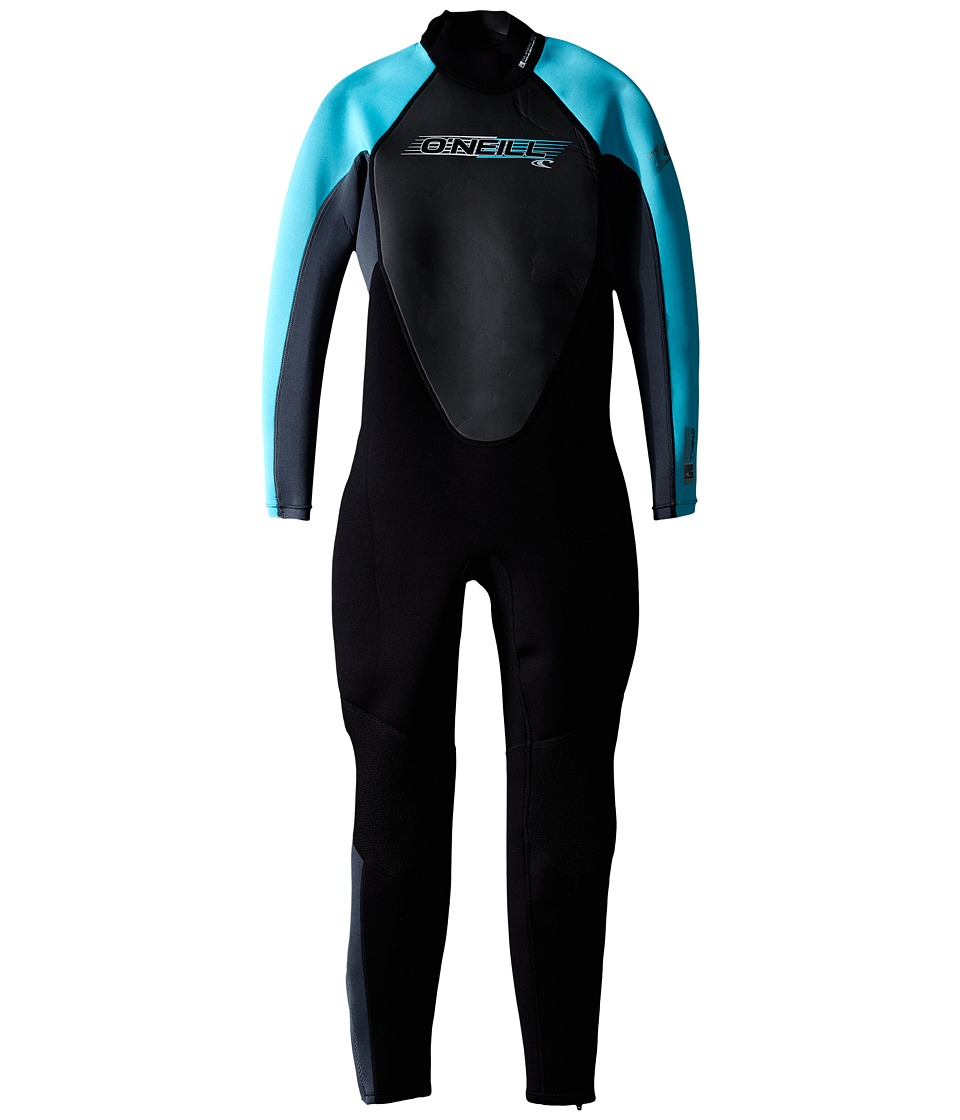 ONeill Kids Youth Reactor 3/2 Full Little Kids/Big Kids Black/Graphite/Turquoise Boys Swimwear
