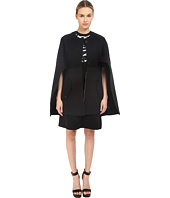 Neil Barrett - Mixed Fabrics Flared Cape