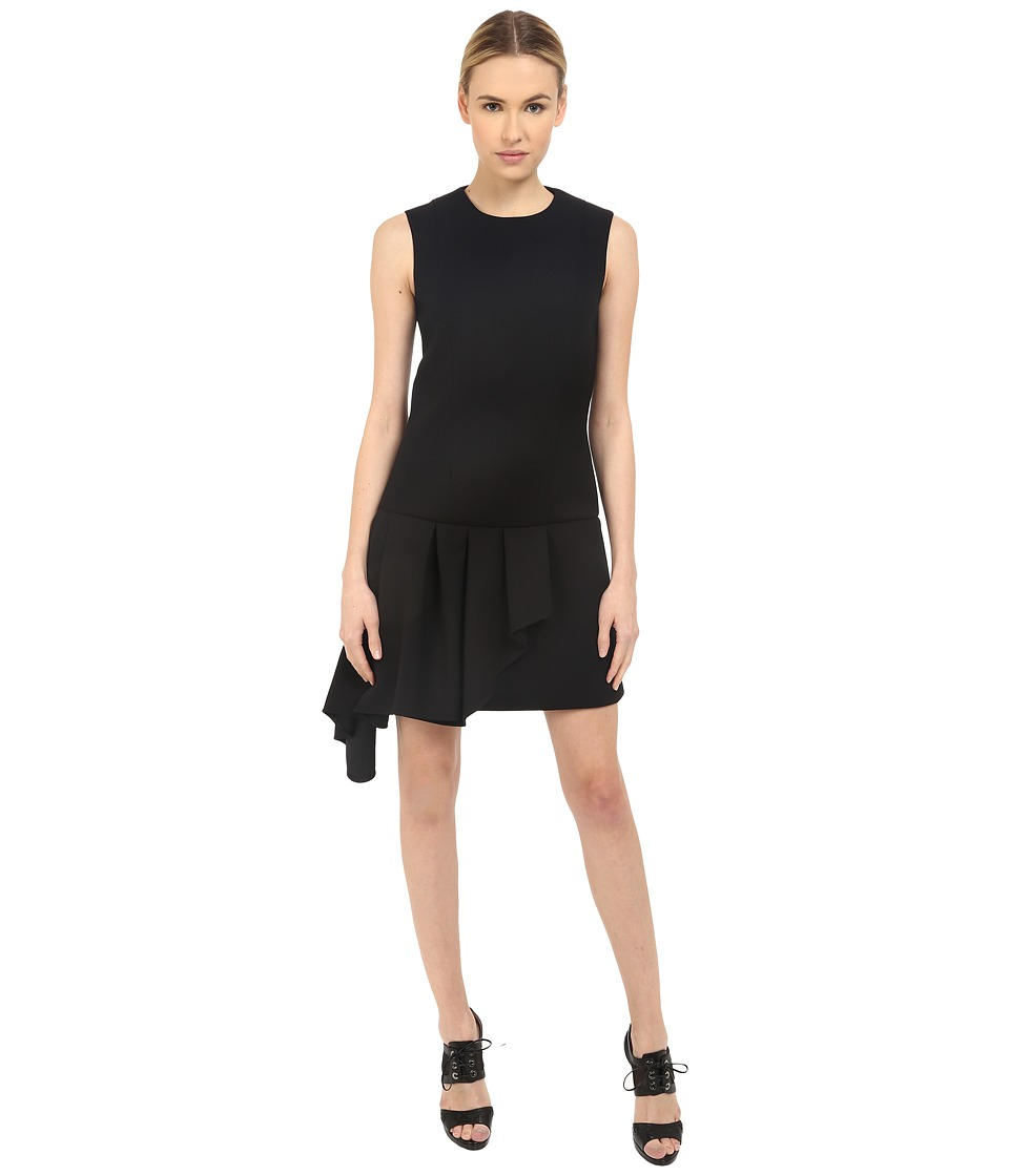 Neil Barrett Asymmetric Volant Straight Dress Black Womens Dress