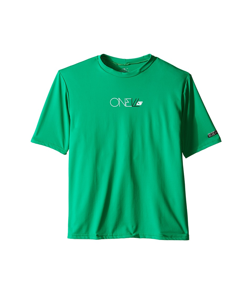 ONeill Kids Skins Short Sleeve Rash Tee Little Kids/Big Kids Clean Green Boys Swimwear