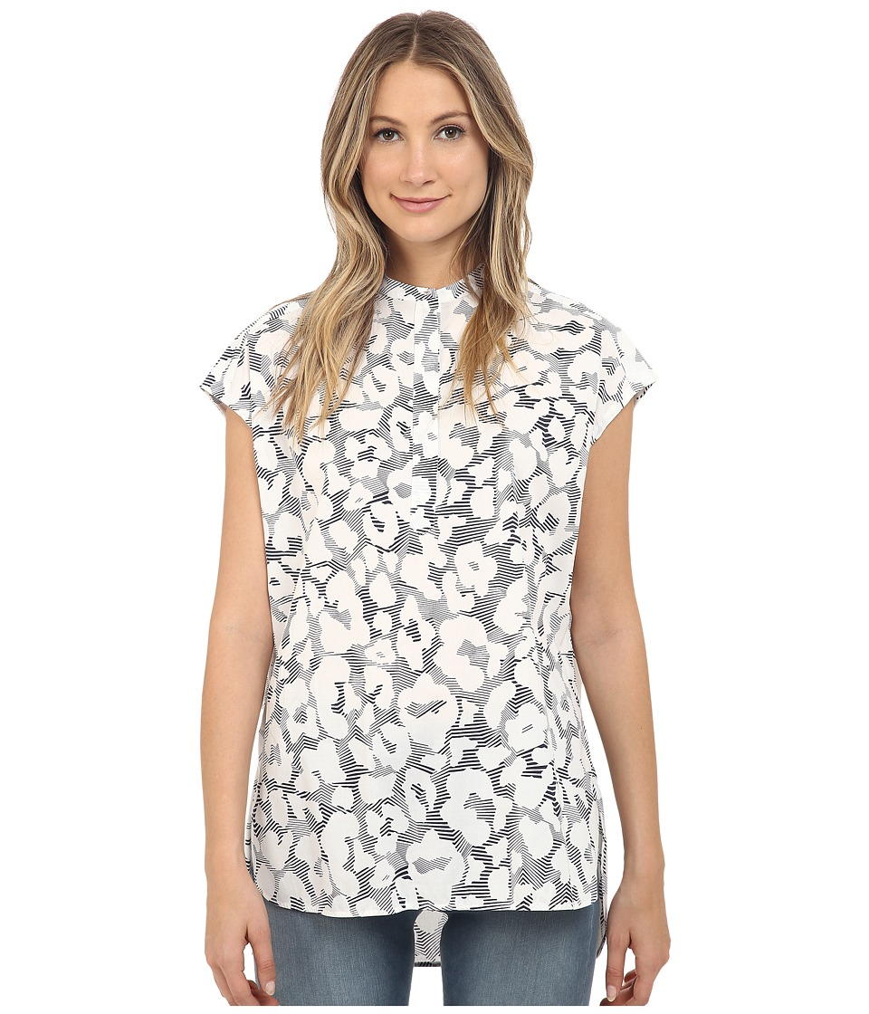 Neil Barrett Volume Shirt White/Navy Womens Clothing
