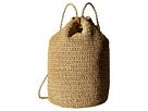 Hat Attack Straw Drawstring Backpack (Natural)