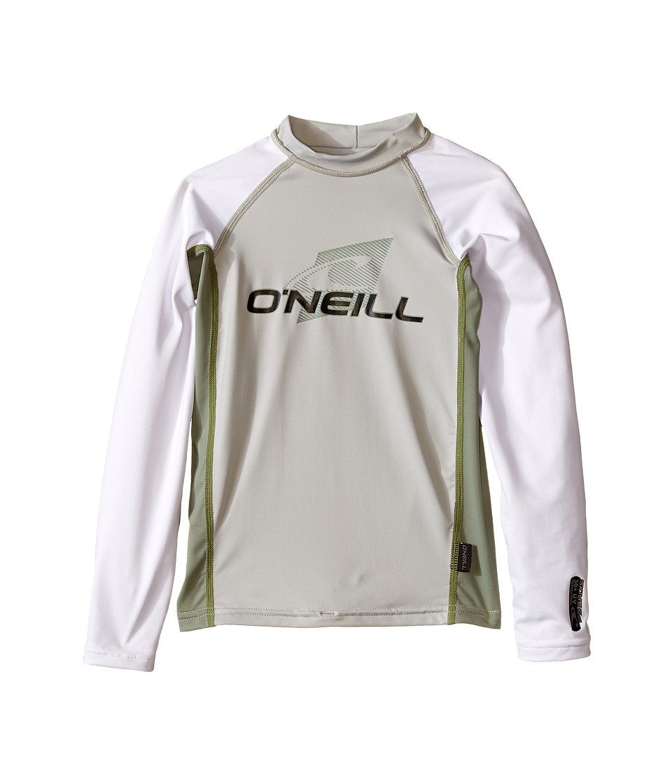 ONeill Kids Skins Long Sleeve Crew Little Kids/Big Kids Lunar/Light Olive/White Boys Swimwear