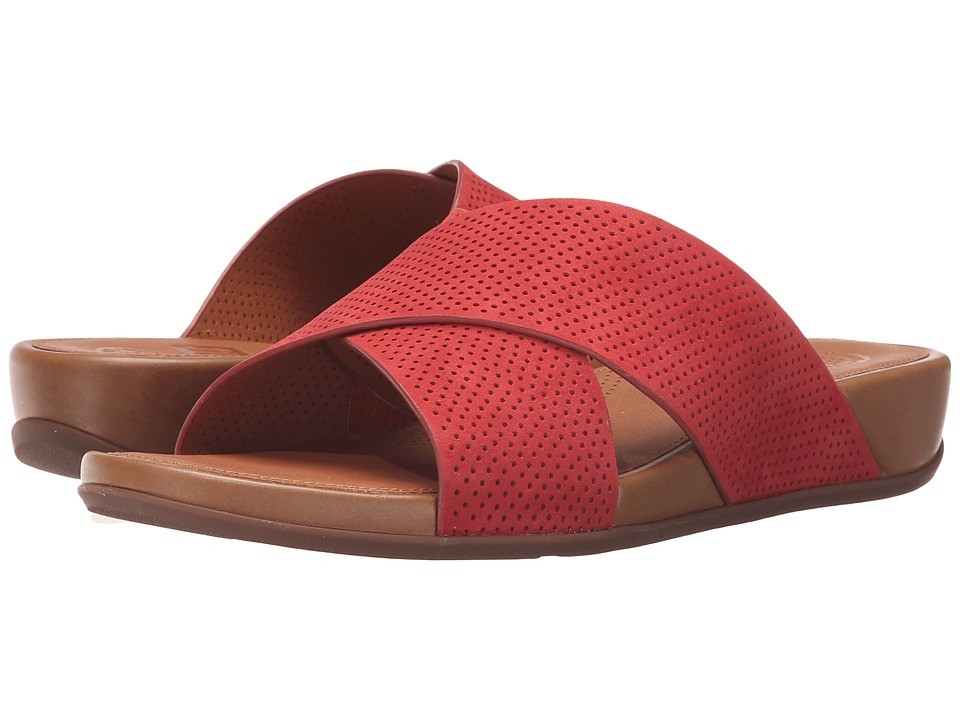 FitFlop Aix Slide Perf Dusty Red Womens Sandals