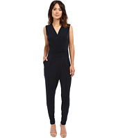 MICHAEL Michael Kors - Solid Wrap Pleated Jummpsuit