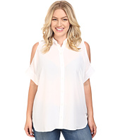 MICHAEL Michael Kors - Plus Size Cold Shoulder Button Down Top