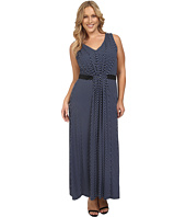 MICHAEL Michael Kors - Plus Size Alston V-Neck Pleat Maxi Dress