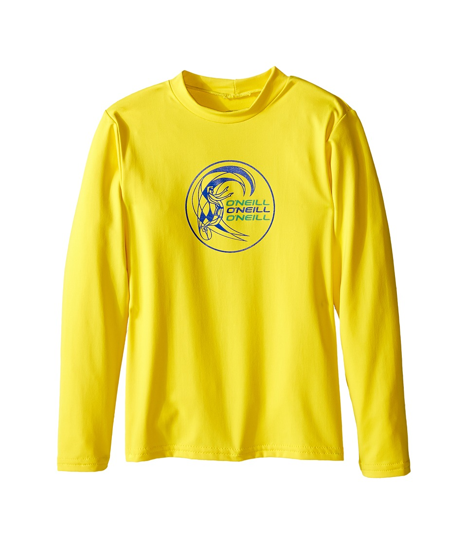ONeill Kids Skins Long Sleeve Rash Tee Infant/Toddler/Little Kids Yellow Boys Swimwear