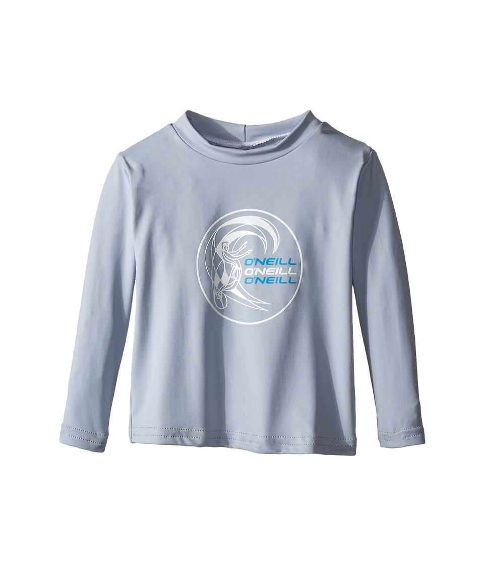 ONeill Kids Skins Long Sleeve Rash Tee Infant/Toddler/Little Kids Fog Blue Boys Swimwear