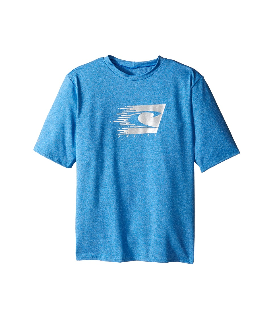 ONeill Kids 24 7 Hybrid Short Sleeve Tee Little Kids/Big Kids Brite Blue Boys Swimwear
