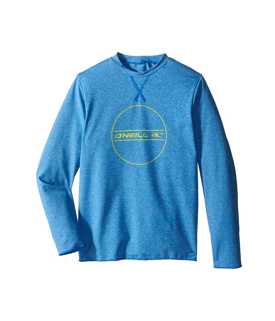 ONeill Kids 24 7 Hybrid Long Sleeve Tee Little Kids/Big Kids Brite Blue Boys Swimwear