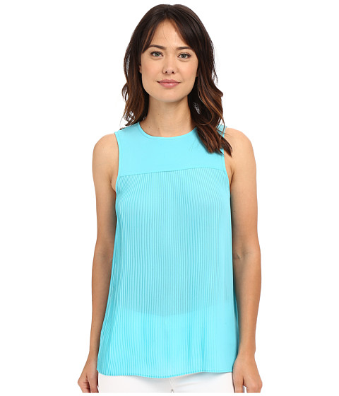 MICHAEL Michael Kors Solid Pleated Top