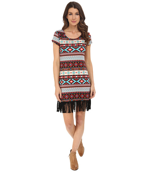 Scully Francesca Cap Sleeve Fringe Bottom Dress