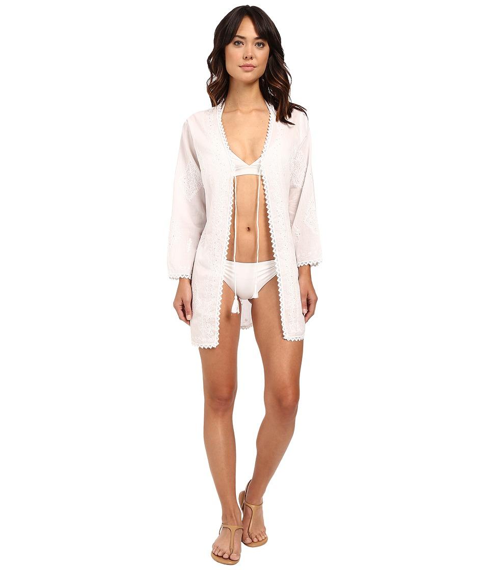 La Blanca Beachcomber Open Front Tunic White Womens Swimwear