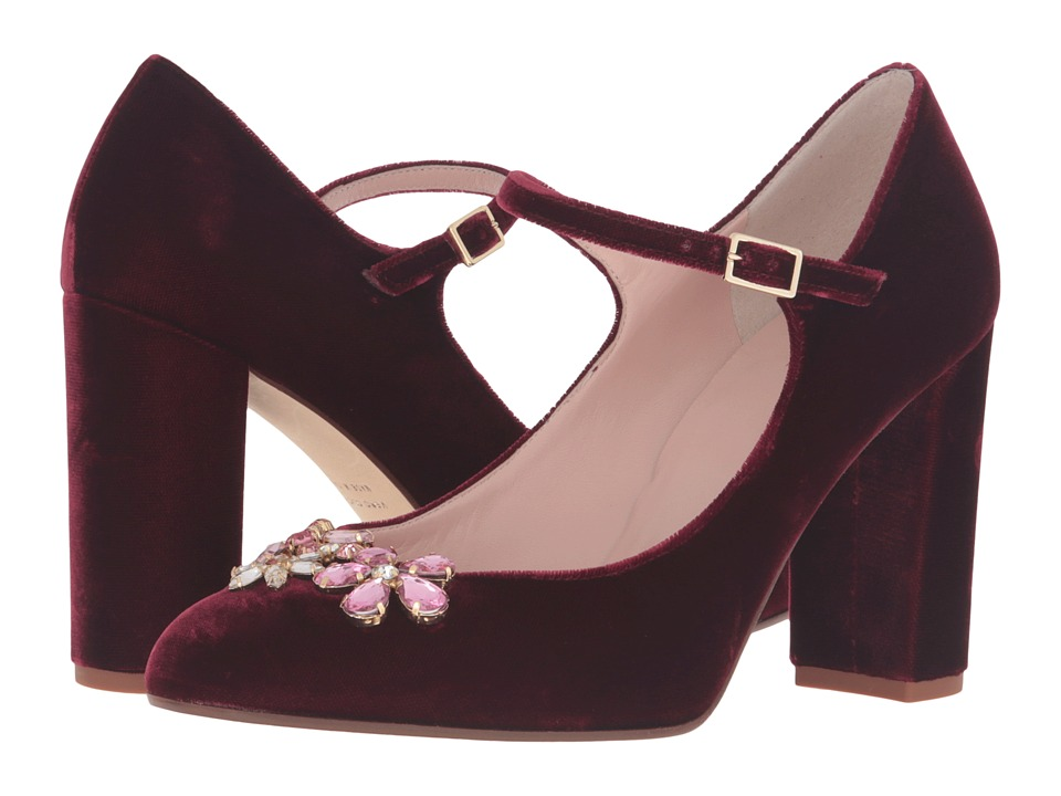Kate Spade New York Ballina (Bordeaux Velvet) Women