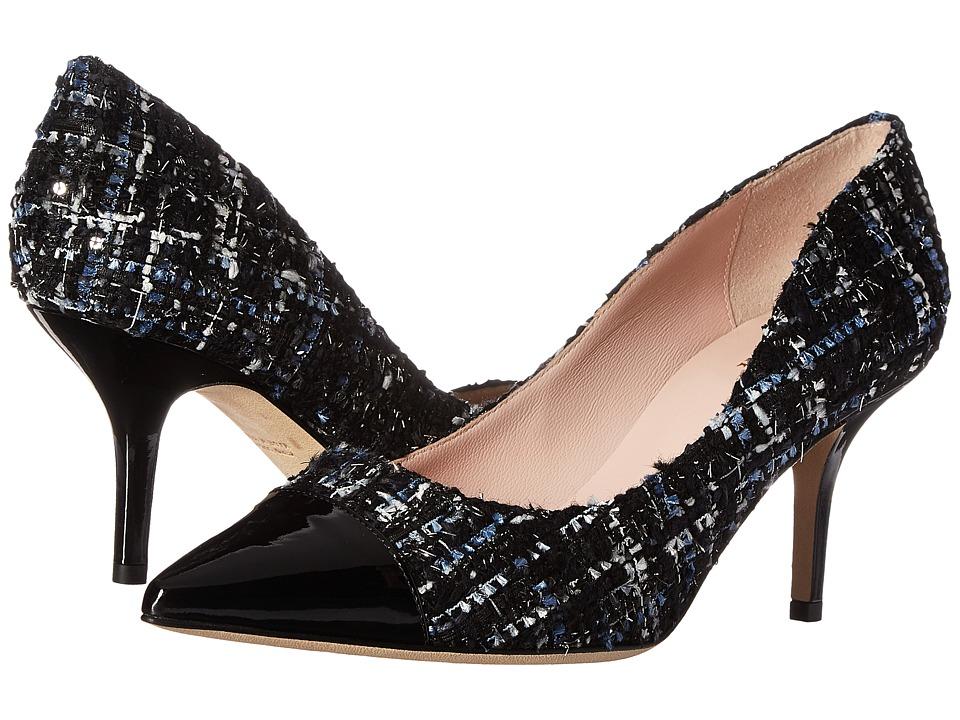 Kate Spade New York Jessie (Blue Multi Tweed/Black Patent) Women