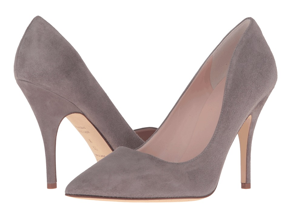 Kate Spade New York Licorice (Portabella Kid Suede) High Heel Shoes