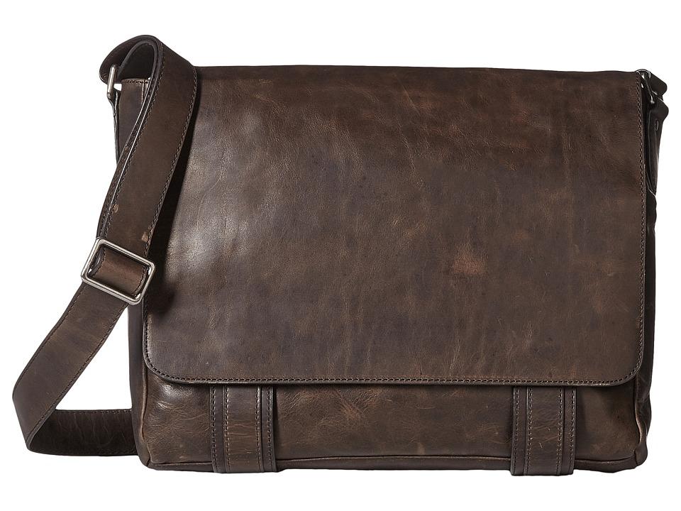 Frye - Logan Messenger (Slate Antique Pull Up) Messenger Bags