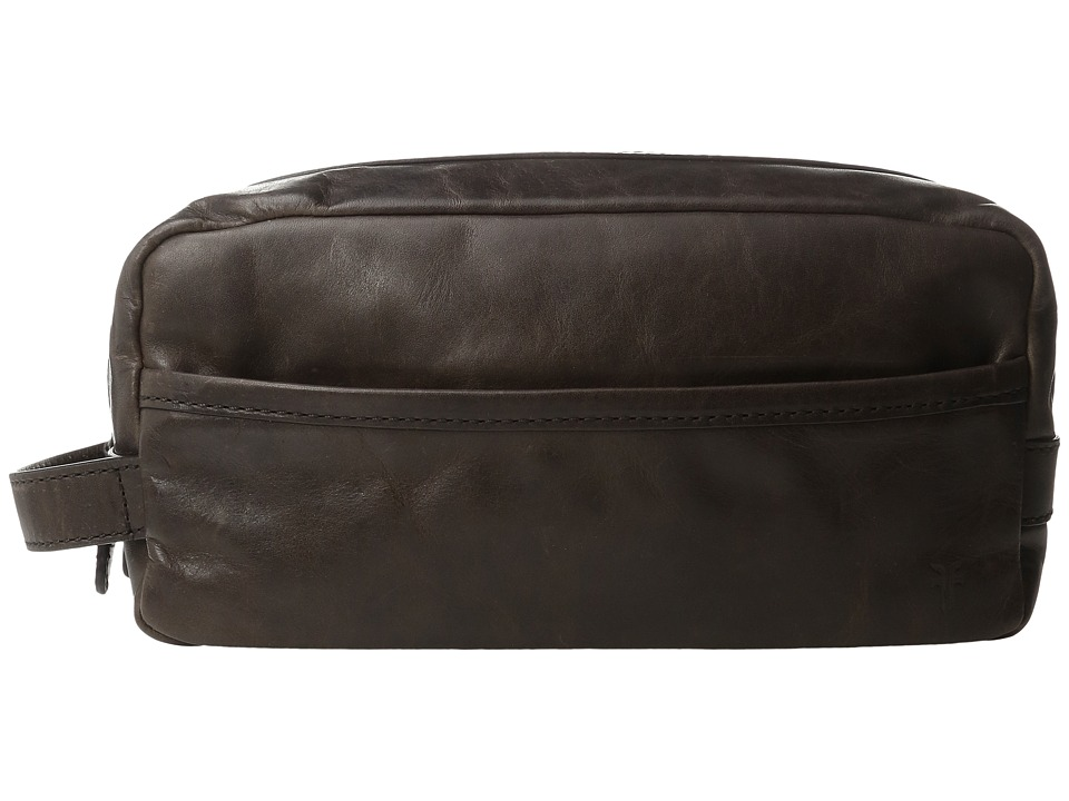 Frye - Logan Travel Dopp Large (Slate Antique Pull Up) Toiletries Case