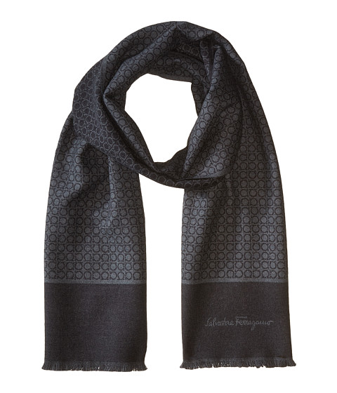 Salvatore Ferragamo Mini Gancini Wool Scarf - 526043