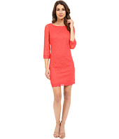 London Times - Lace 3/4 Sleeve Shift