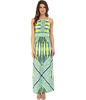 London Times - Sleeveless Keyhole Halter Maxi