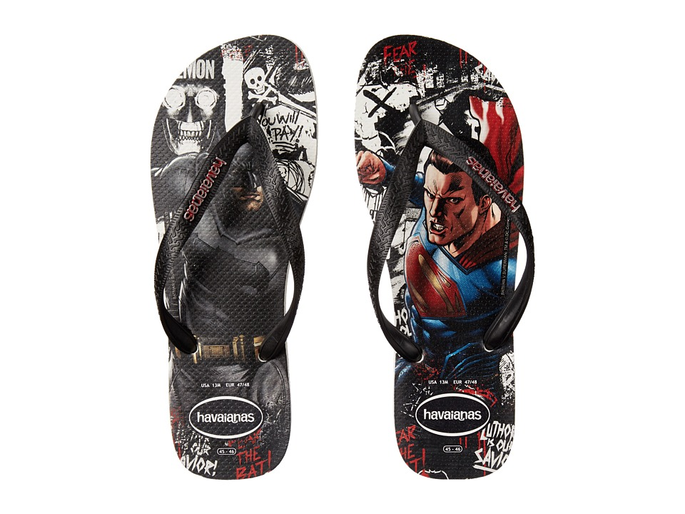 Havaianas Top Batman V Superman Sandal (White/Black) Men