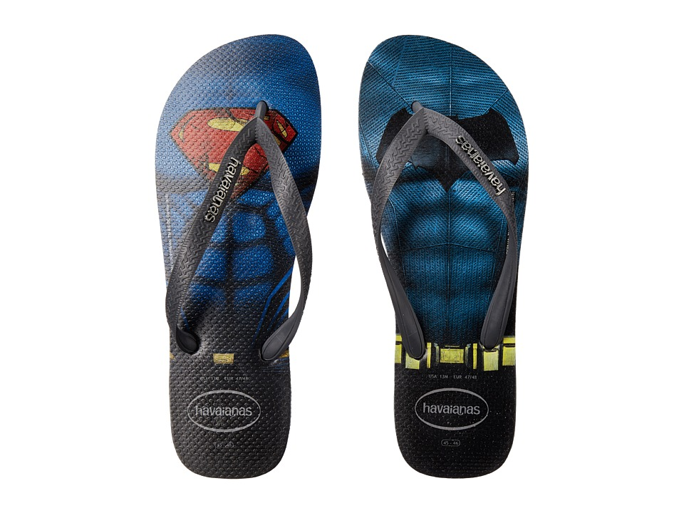 Havaianas Top Batman V Superman Sandal (Black/Grey) Men