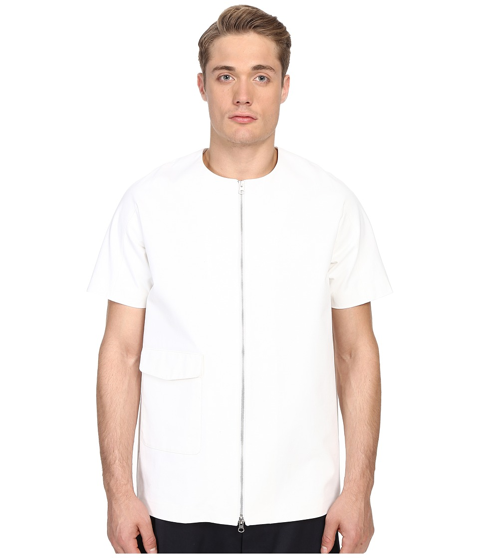 Mohsin Russell Zip Top White Mens T Shirt