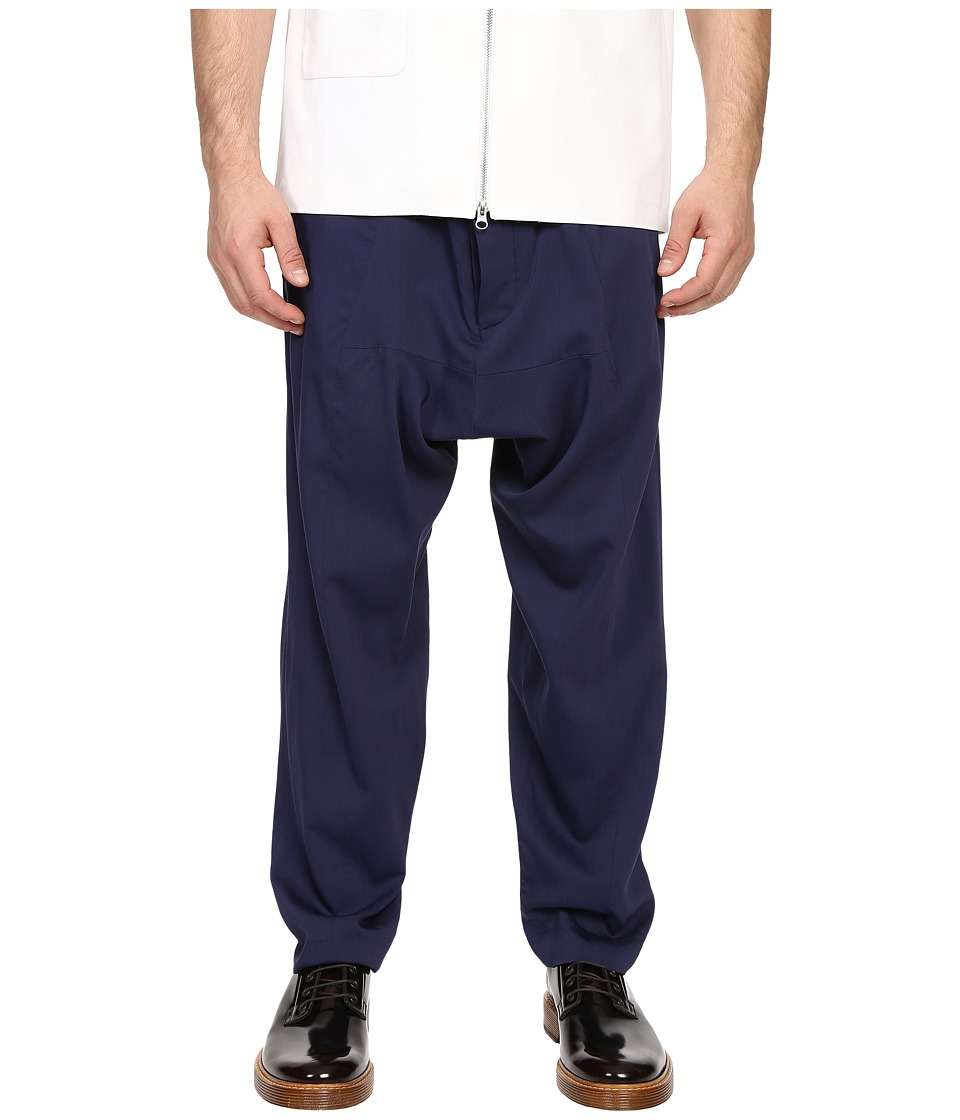 Mohsin Drawstring Balloon Trousers Navy Mens Dress Pants