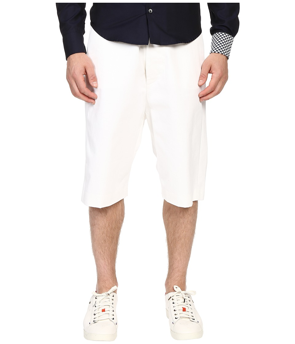 Mohsin Oversized Marc Shorts White Mens Shorts