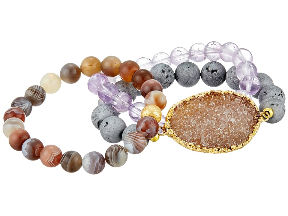 Dee Berkley Hazy Day Bracelet Purple/Gray Bracelet