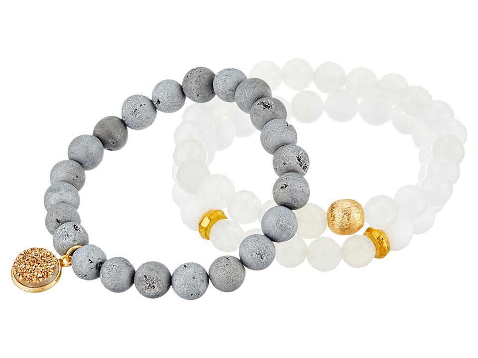 Dee Berkley Gray Ombre Bracelet Gray/White Bracelet