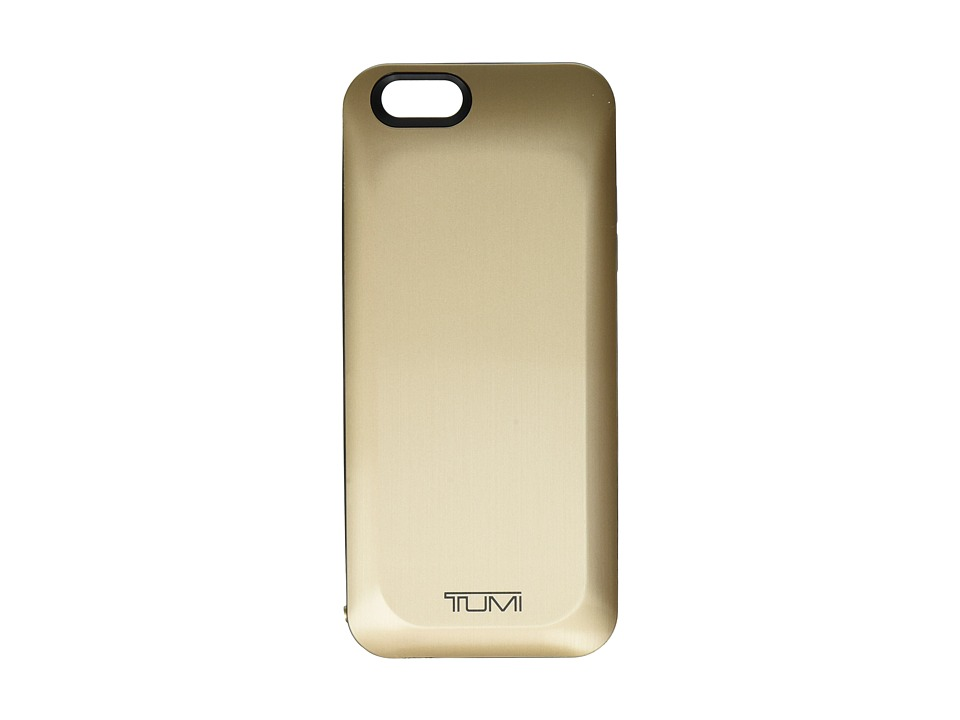 Tumi 3000 mAh Battery Case for iPhone 6 Gold Wallet
