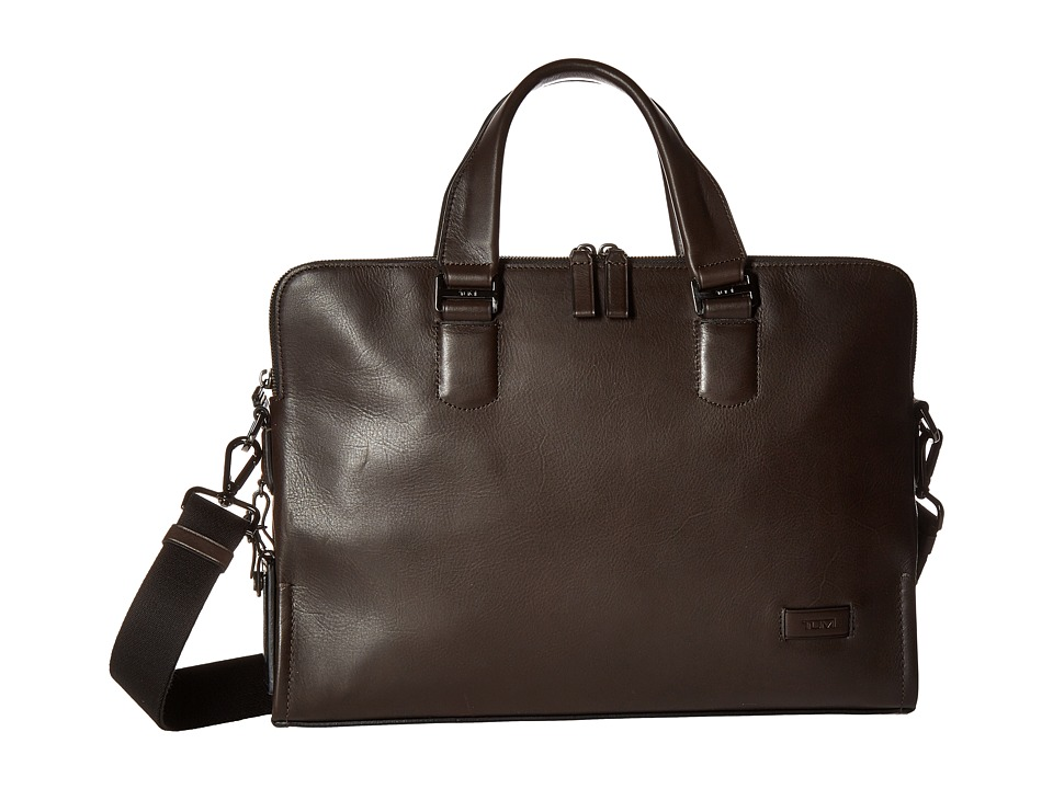 Tumi - Harrison - Seneca Slim Brief (Brown) Briefcase Bags