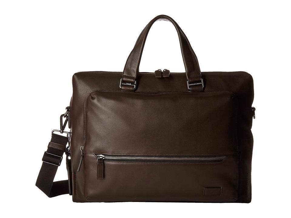 Tumi Harrison Madden Brief (Brown) Briefcase Bags