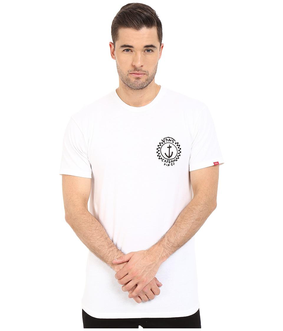 Vans - Capt Fin Anchor Tee (White) Men
