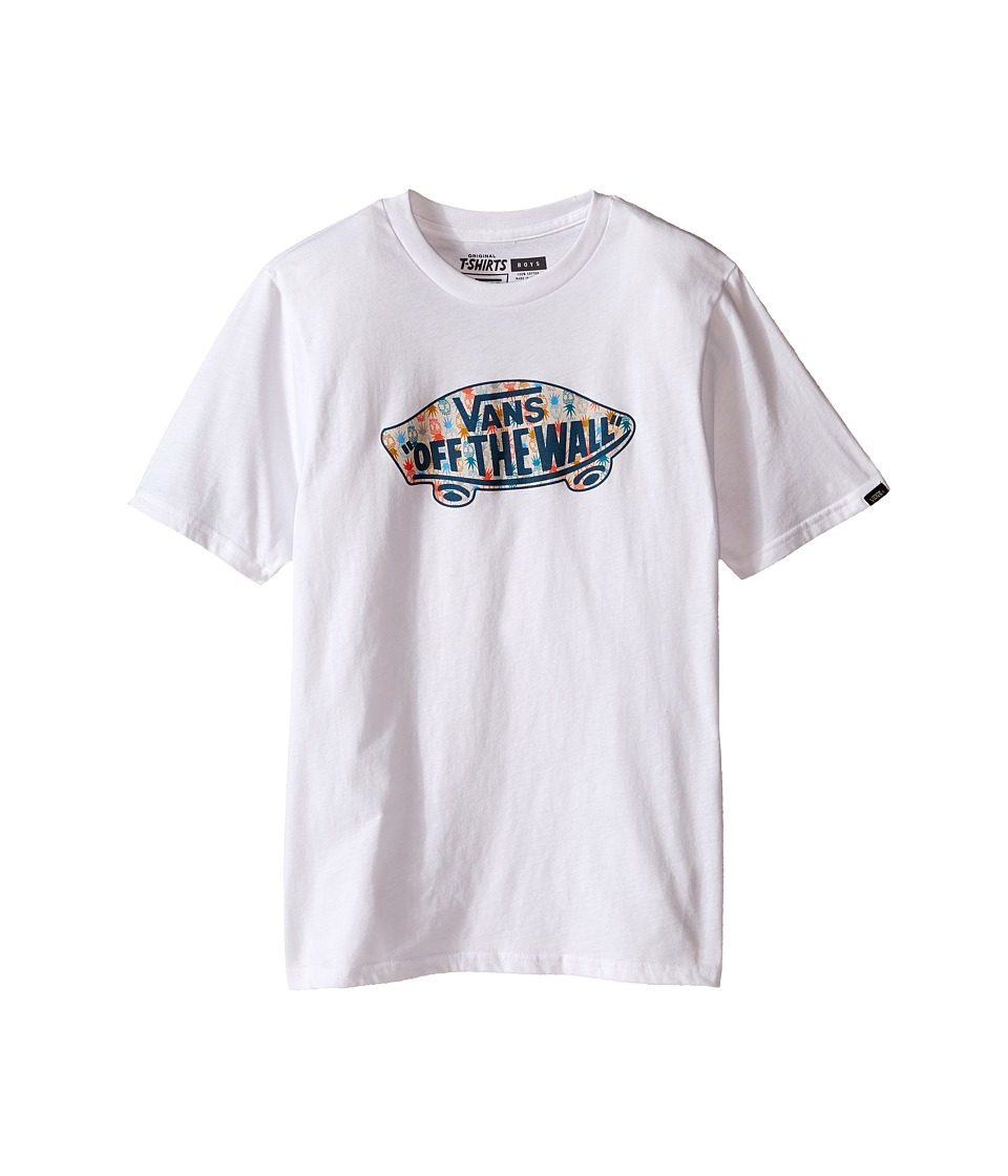 Vans Kids - OTW Logo Fill T-Shirt (Big Kids) (White/Pineapple Print) Boy
