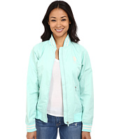U.S. POLO ASSN. - Solid Jacket with Stripe Collar