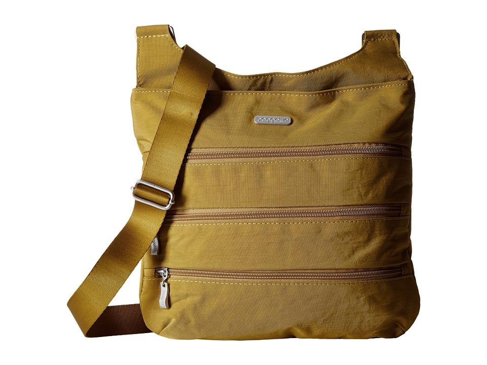 Baggallini - Big Zipper Bagg (Curry) Cross Body Handbags