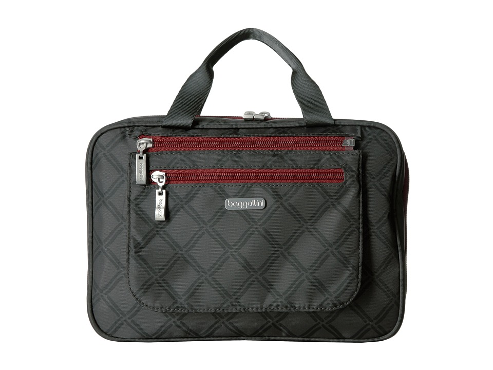 Baggallini Deluxe Travel Cosmetic (Charcoal Link) Cosmetic Case