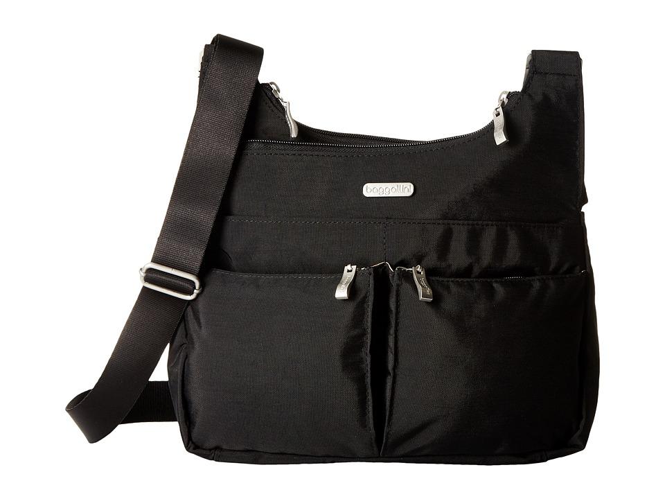 Baggallini Crossover Crossbody (Black) Cross Body Handbags