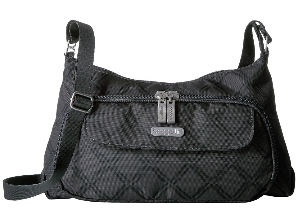 Baggallini Everyday Bagg (Charcoal Link) Cross Body Handbags