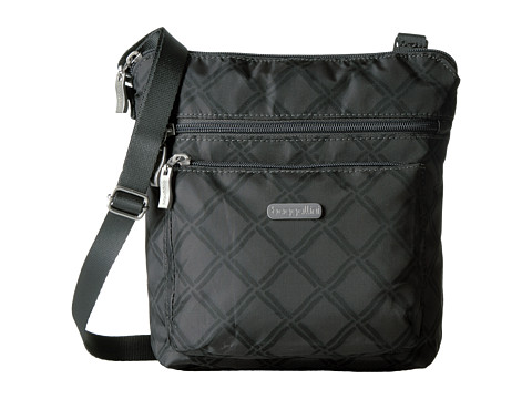 Baggallini Pocket Crossbody Bag with RFID Wristlet - Charcoal Link