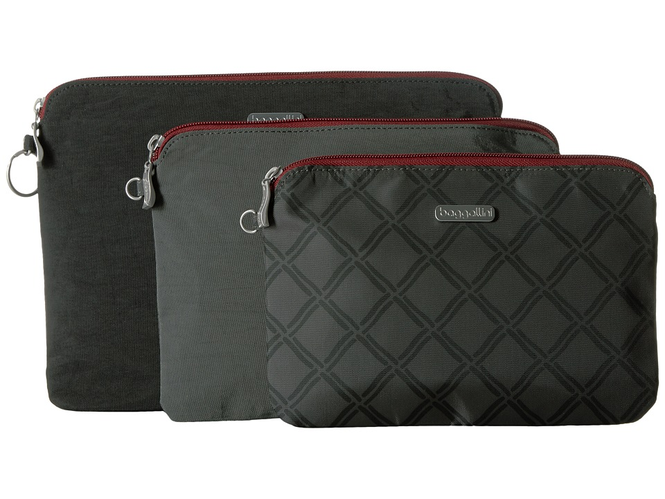 Baggallini - 3 Pouch Travel Set (Charcoal Link) Travel Pouch