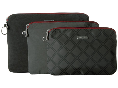 Baggallini 3 Pouch Travel Set - Charcoal Link