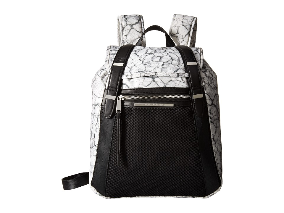 French Connection Indy Backpack Marble Print Backpack Bags