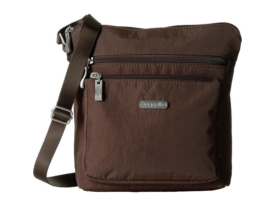Baggallini - Pocket Crossbody (Java) Cross Body Handbags